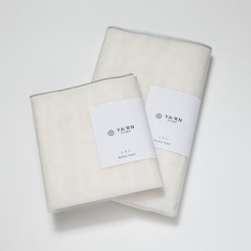 """これからの""""理想のふきん"""" 《Lサイズ》3層構造の綿が水分を一発で'掴む'!吸水・速乾性に優れた、毛羽がつかない「キッチンふきん」  YARN HOME"""