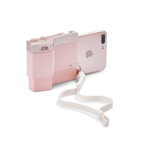 iPhone でもっと面白い写真撮りたい!|綺麗な写真を撮りながら、写真の楽しさが学べるカメラグリップ | PICTAR|Millennial Pink(在庫限り)