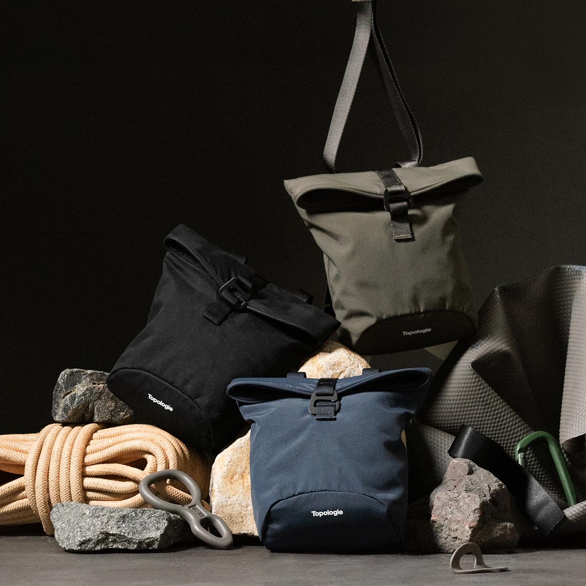岩への挑戦から生まれた『街バッグ』|《チョークバムバッグ/3L》わずか141g!安定構造&荷物の出し入れがラクな「4WAYウエストバッグ」 | Topologie