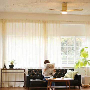 """ハワイのヴィラみたいに""""風通しがいい家"""" モダンモデル 室温ムラを解消して、風通しがいい家をつくるシーリングファン ホワイト"""