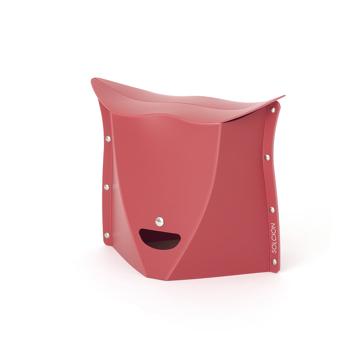 薄さ3センチの「どこでもイス」|《NEW PATATTO 250(高さ25cm)》使う場所を選ばない、どこにでも持ち歩けるイス|PATATTO|レッド