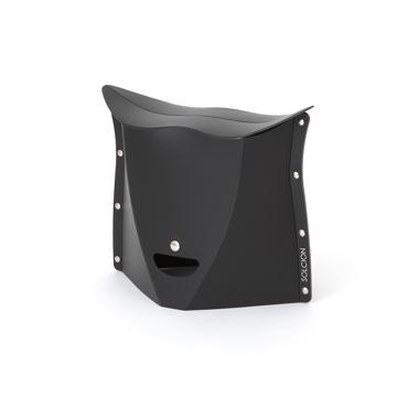 薄さ3センチの「どこでもイス」|《NEW PATATTO 250(高さ25cm)》使う場所を選ばない、どこにでも持ち歩けるイス|PATATTO|ブラック