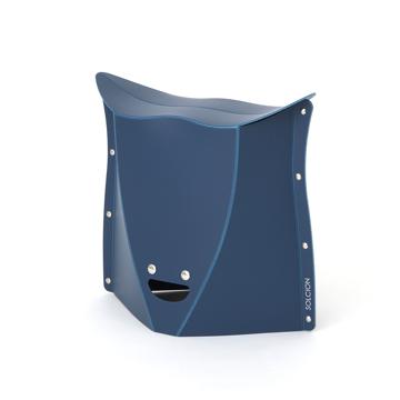 薄さ3センチの「どこでもイス」|《NEW PATATTO 320(高さ32cm)》使う場所を選ばない、どこにでも持ち歩けるイス|PATATTO|ネイビー