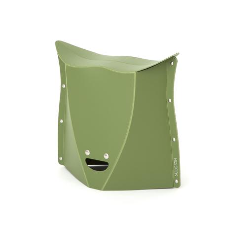 薄さ3センチの「どこでもイス」|《NEW PATATTO 320(高さ32cm)》使う場所を選ばない、どこにでも持ち歩けるイス|PATATTO|オリーブ
