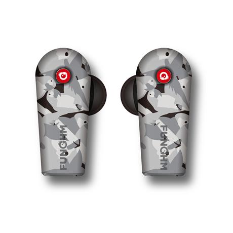 ワイヤレスイヤホンの「3大イライラ」を解決!|新発想!耳から落ちない、音が途切れない、20時間再生OKのワイヤレスイヤホン|FUNOHM F2|Gray(完売)
