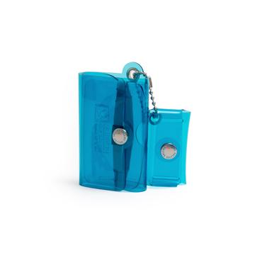 大人のための『遊びウォレット』|《クリアカラー》これひとつで、ジム・旅行・アウトドアへ!ミニマム構造がかなえる、軽量&収納力の「ミニ財布」|SALLIES|クリアブルー