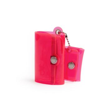 大人のための『遊びウォレット』|《クリアカラー》これひとつで、ジム・旅行・アウトドアへ!ミニマム構造がかなえる、軽量&収納力の「ミニ財布」|SALLIES|クリアピンク