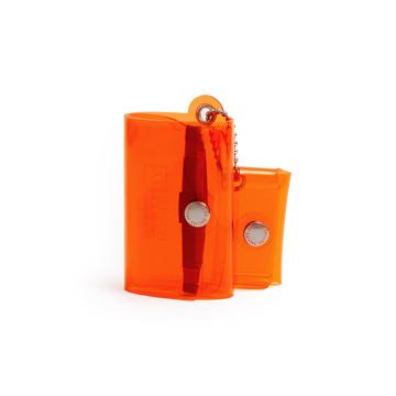 大人のための『遊びウォレット』|《クリアカラー》これひとつで、ジム・旅行・アウトドアへ!ミニマム構造がかなえる、軽量&収納力の「ミニ財布」|SALLIES|クリアオレンジ