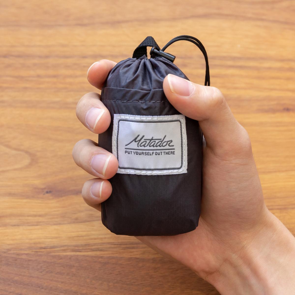 手のひらサイズになる大容量バッグ|旅先や日常生活でアクティブに動き回れる!手のひらサイズにたためる防水仕様の「ウエストバッグ」| Matador DAYLITE HIP PACK