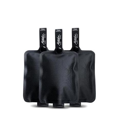 手のひらサイズになる大容量バッグ|《3本セット》ジムやアウトドア、旅先で大活躍!シャンプー&クリームを必要な分だけ持ち運べて、小さくたためる「トラベルボトル」|Matador FLATPAK TOILETRY BOTTLE 3-PK|