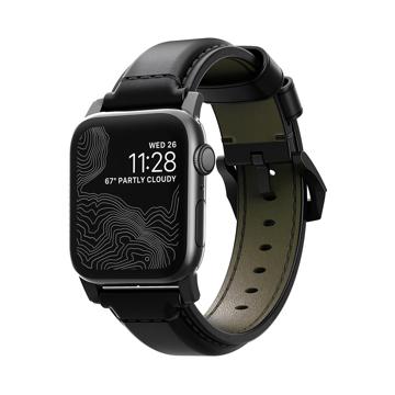 《BLACK》米国最高峰のタンナーが、6ヶ月かけて仕上げた希少革「シェルコードバン」のApple Watchバンド|Apple Watch1,2,3(42mm)/4,5(44mm)対応|NOMAD