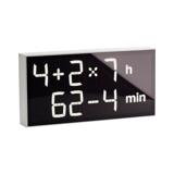 『4+2×7h:62-4min』、いま何時?(笑)|インテリアに遊び心を!ゲーム感覚で数式を解いて、時刻を割り出す「デジタル時計」 | Albert Clock|ホワイト(生産終了)