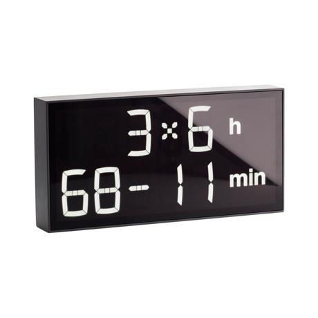 『4+2×7h:62-4min』、いま何時?(笑)|インテリアに遊び心を!ゲーム感覚で数式を解いて、時刻を割り出す「デジタル時計」 | Albert Clock|グレー(在庫限り)