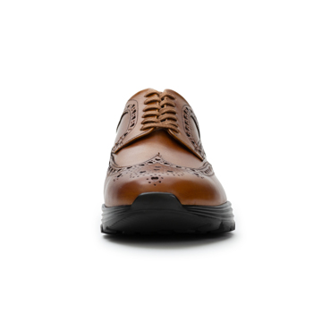 自由な発想を「紳士靴」にも! スーツにもデニムにも合う、遊びゴコロを履かせた大人の「ドレススニーカー」 三陽山長 ブラウン/24.5-25cm(6.5US)