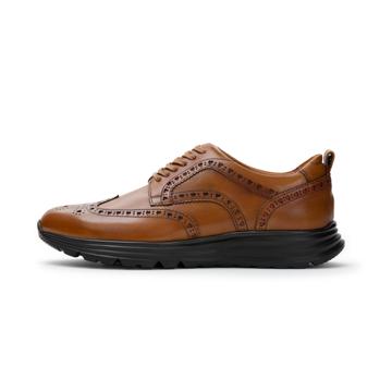 自由な発想を「紳士靴」にも!|スーツにもデニムにも合う、遊びゴコロを履かせた大人の「ドレススニーカー」|三陽山長|ブラウン/24.5-25cm(6.5US)