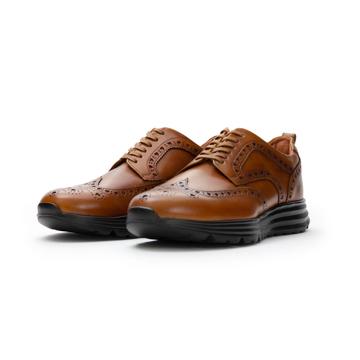 自由な発想を「紳士靴」にも!|スーツにもデニムにも合う、遊びゴコロを履かせた大人の「ドレススニーカー」|三陽山長|ブラウン/25.5-26cm(7.5US)