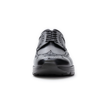 自由な発想を「紳士靴」にも!|スーツにもデニムにも合う、遊びゴコロを履かせた大人の「ドレススニーカー」|三陽山長|ブラック/24.5-25cm(6.5US)