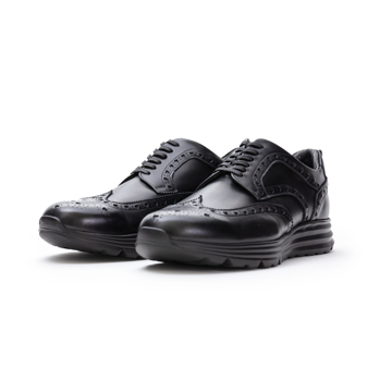 自由な発想を「紳士靴」にも!|スーツにもデニムにも合う、遊びゴコロを履かせた大人の「ドレススニーカー」|三陽山長|ブラック/25.5-26cm(7.5US)