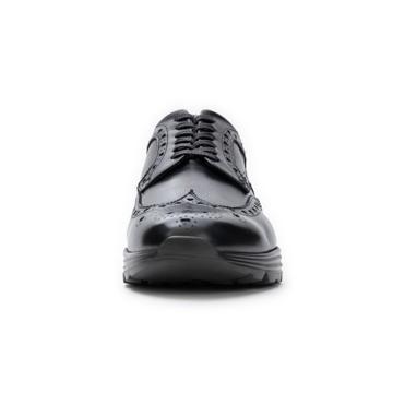 自由な発想を「紳士靴」にも! スーツにもデニムにも合う、遊びゴコロを履かせた大人の「ドレススニーカー」 三陽山長 ブラック/26.5-27cm(8.5US)