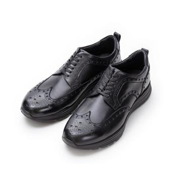 自由な発想を「紳士靴」にも! スーツにもデニムにも合う、遊びゴコロを履かせた大人の「ドレススニーカー」 三陽山長 ブラック/27.5-28cm(9.5US)