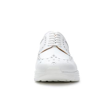 自由な発想を「紳士靴」にも! スーツにもデニムにも合う、遊びゴコロを履かせた大人の「ドレススニーカー」 三陽山長 ホワイト/27.5-28cm(9.5US)
