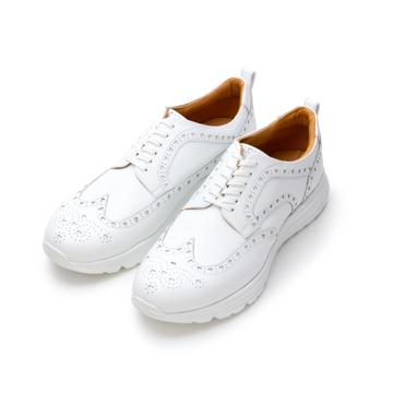自由な発想を「紳士靴」にも! スーツにもデニムにも合う、遊びゴコロを履かせた大人の「ドレススニーカー」 三陽山長 ホワイト/26.5-27cm(8.5US)