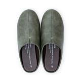スキップしたくなる『スリッパ』|靴の製法でつくったからトコトン歩きやすい「スリッパ」|room's|オリーブ/M(22.5-24.5cm)