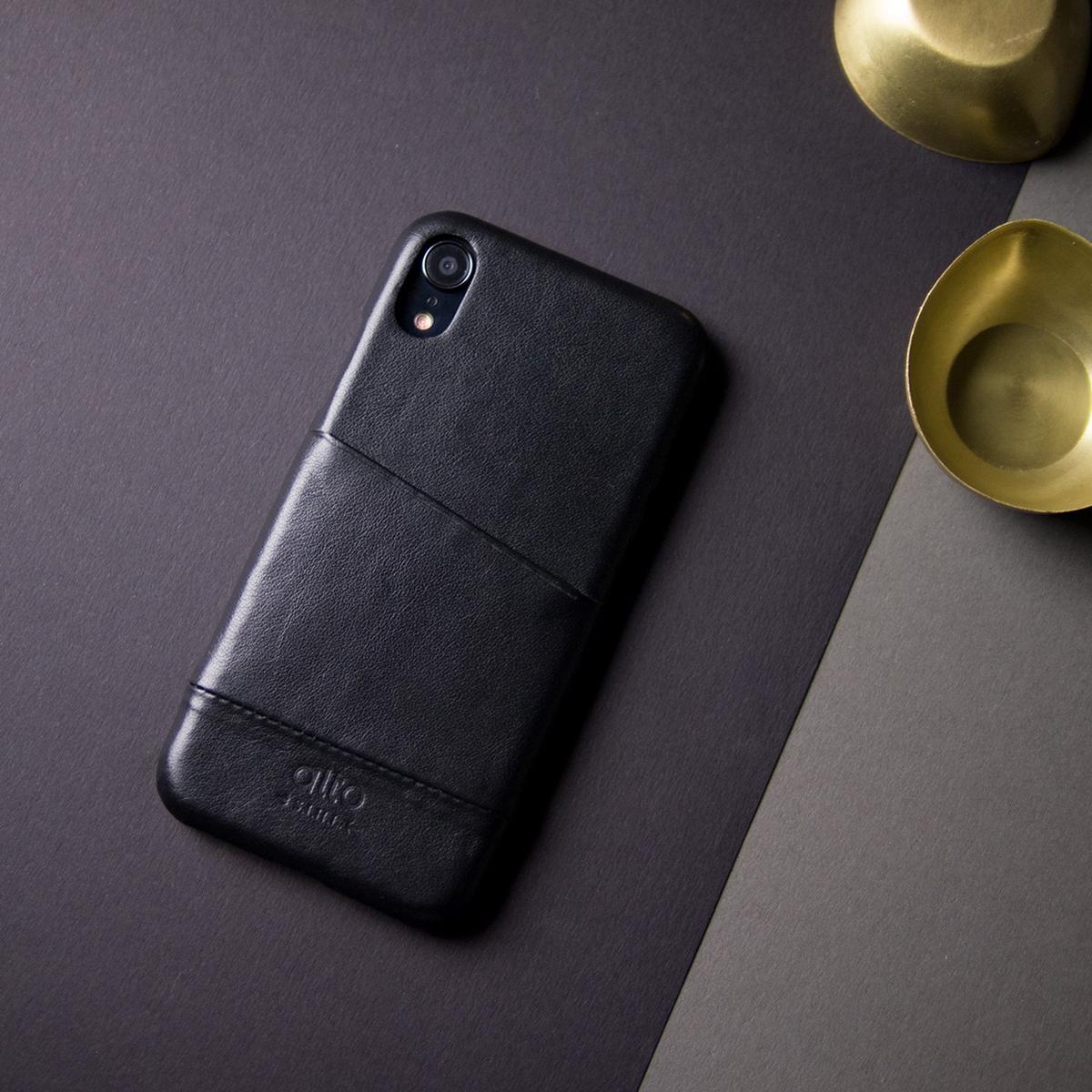 "iPhoneに""素肌""の気持ち良さ|革作りから手がけ、iPhoneとの「完璧な調和」を追求したカードホルダー付きスマホケース|Alto(iPhone X, XS, XR対応)"