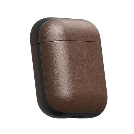 """AirPodsに憧れの""""革ジャケット""""を 100日後に分かる、本当の艶と味。米国最高峰のホーウィン社製レザーで仕立てた「AirPodsケース」  NOMAD ブラウン(在庫限り)"""