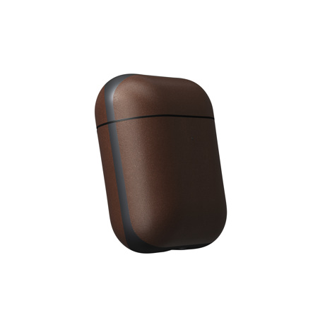 "AirPodsに憧れの""革ジャケット""を|100日後に分かる、本当の艶と味。米国最高峰のホーウィン社製レザーで仕立てた、ワイヤレ充電対応の「AirPods/AirPods Proケース」| NOMAD| AirPods Case V2/ブラウン"