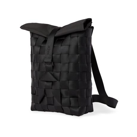 """知恵を編んだ『背負いカゴバッグ』 古代の発明を、""""いま""""のカタチで楽しむ!取り外し可能なパーツの組み合わせで遊ぶ「モジュラー式バックパック」  PACK Black"""