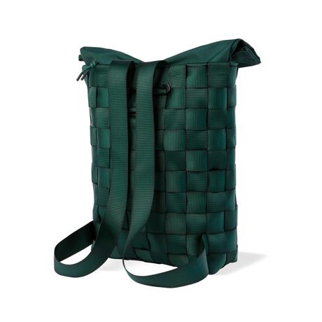 """知恵を編んだ『背負いカゴバッグ』 古代の発明を、""""いま""""のカタチで楽しむ!取り外し可能なパーツの組み合わせで遊ぶ「モジュラー式バックパック」  PACK Green"""