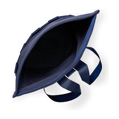 """知恵を編んだ『背負いカゴバッグ』 古代の発明を、""""いま""""のカタチで楽しむ!取り外し可能なパーツの組み合わせで遊ぶ「モジュラー式バックパック」  PACK Navy"""