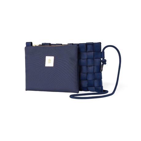 """知恵を編んだ『背負いカゴバッグ』 取り外し可能な""""バッグ イン バッグ""""が付属。3通りの使い方ができる「ショルダーバッグ」  PACK Navy"""