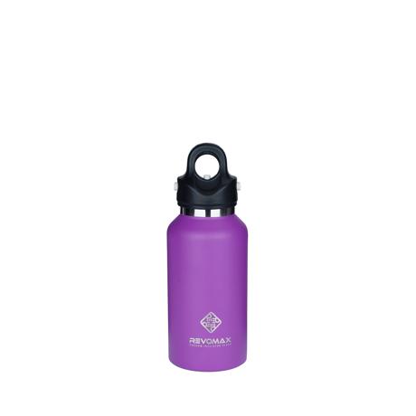 「指3本」で密閉できる魔法瓶|《355ml》炭酸もビールも36時間保冷、保温も18時間OKの「マイボトル」|REVOMAX|LILAC PURPLE