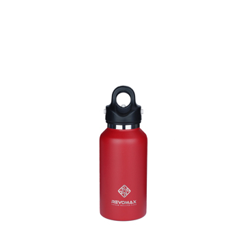 「指3本」で密閉できる魔法瓶|《355ml》炭酸もビールも36時間保冷、保温も18時間OKの「マイボトル」|REVOMAX|ファイヤーレッド