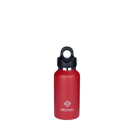 「指3本」で密閉できる魔法瓶|《355ml》炭酸もビールも36時間保冷、保温も18時間OKの「マイボトル」|REVOMAX|FIRE RED