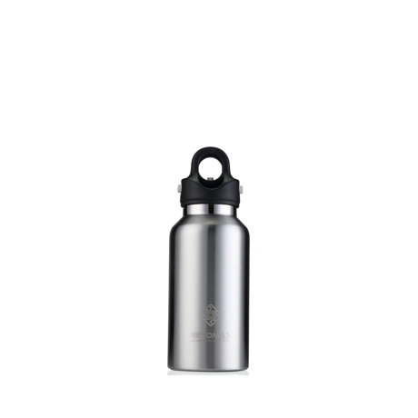 「指3本」で密閉できる魔法瓶|《355ml》炭酸もビールも36時間保冷、保温も18時間OKの「マイボトル」|REVOMAX|GALAXY SILVER