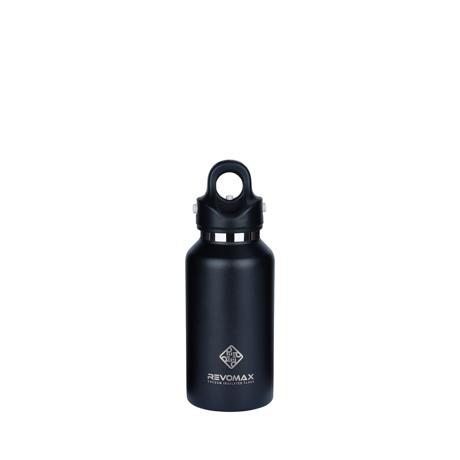 「指3本」で密閉できる魔法瓶|《355ml》炭酸もビールも36時間保冷、保温も18時間OKの「マイボトル」|REVOMAX|ONYX BLACK