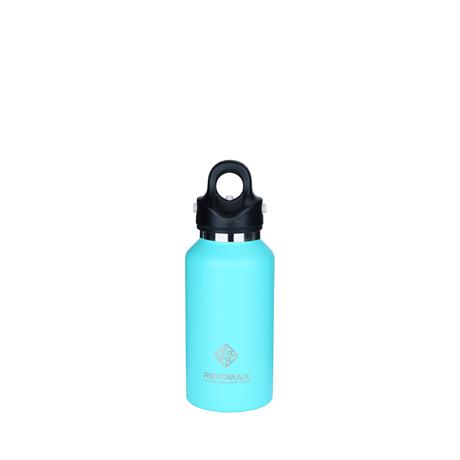 「指3本」で密閉できる魔法瓶|《355ml》炭酸もビールも36時間保冷、保温も18時間OKの「マイボトル」|REVOMAX|TIFFANY GREEN