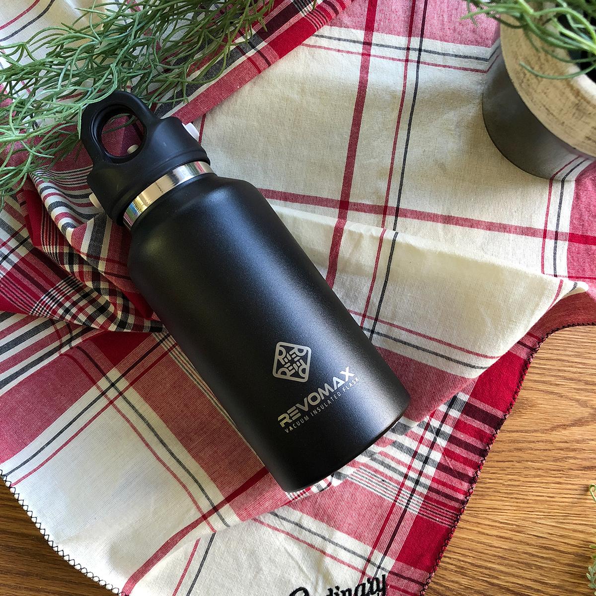 「指3本」で密閉できる魔法瓶|《355ml》炭酸もビールも36時間保冷、保温も18時間OKの「マイボトル」|REVOMAX