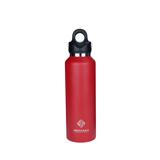 「指3本」で密閉できる魔法瓶|《592ml》炭酸もビールも36時間保冷、保温も18時間OKの「マイボトル」|REVOMAX|FIRE RED