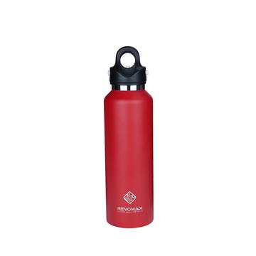 「指3本」で密閉できる魔法瓶|《592ml》炭酸もビールも36時間保冷、保温も18時間OKの「マイボトル」|REVOMAX|ファイヤーレッド