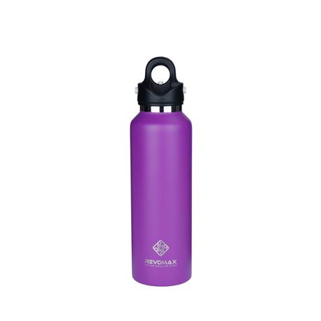 「指3本」で密閉できる魔法瓶|《592ml》炭酸もビールも36時間保冷、保温も18時間OKの「マイボトル」|REVOMAX|LILAC PURPLE