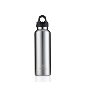 「指3本」で密閉できる魔法瓶|《592ml》炭酸もビールも36時間保冷、保温も18時間OKの「マイボトル」|REVOMAX|ギャラクシーシルバー