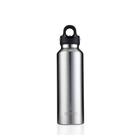 「指3本」で密閉できる魔法瓶|《592ml》炭酸もビールも36時間保冷、保温も18時間OKの「マイボトル」|REVOMAX|GALAXY SILVER