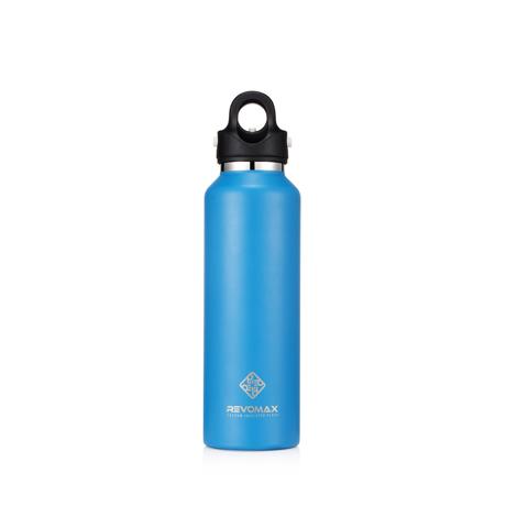 「指3本」で密閉できる魔法瓶|《592ml》炭酸もビールも36時間保冷、保温も18時間OKの「マイボトル」|REVOMAX|JEWELRY BLUE