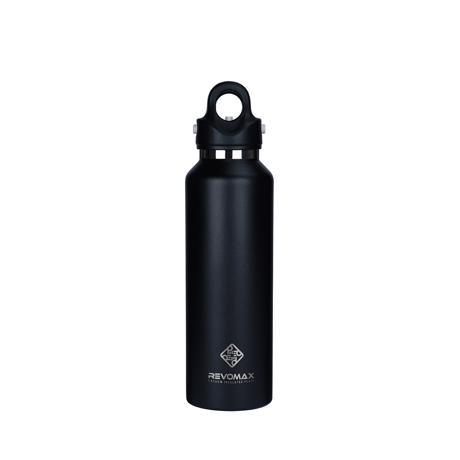 「指3本」で密閉できる魔法瓶|《592ml》炭酸もビールも36時間保冷、保温も18時間OKの「マイボトル」|REVOMAX|ONYX BLACK