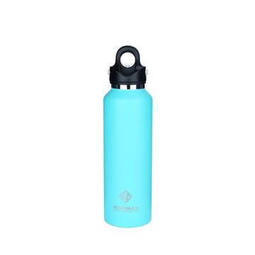 「指3本」で密閉できる魔法瓶|《592ml》炭酸もビールも36時間保冷、保温も18時間OKの「マイボトル」|REVOMAX|ティファニーグリーン