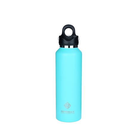 「指3本」で密閉できる魔法瓶|《592ml》炭酸もビールも36時間保冷、保温も18時間OKの「マイボトル」|REVOMAX|TIFFANY GREEN